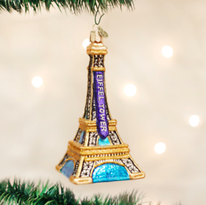 OLD WORLD CHRISTMAS EIFFEL TOWER OF PARIS FRANCE GLASS ...