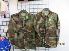US Military BDU Shirt/Coat -SET OF 2-1 WINTER +1 SUMMER-Woodland Camo SMALL-LONG