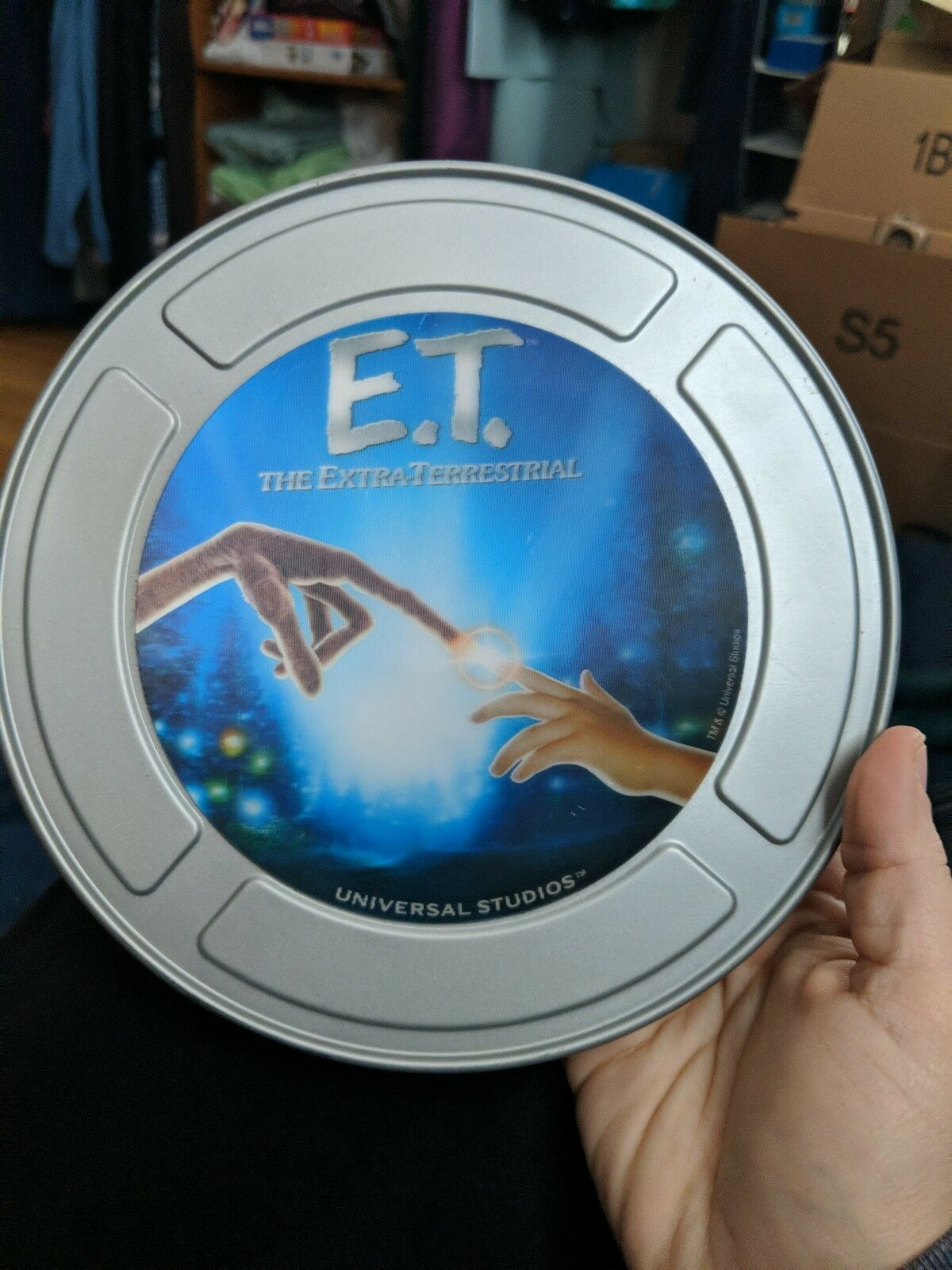 E.T. The Extra Terrestrial Tin Box Holographic 3D VINTAGE