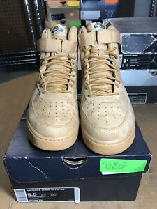 release date: e18b6 c54bd Details about 100% Authentic Nike Air Force 1 High Flax 2017' Size 9.5  882096 200