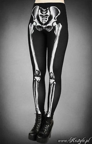 Restyle Ossa Punk Dello Spaventosa Horror Goth Skull Rockabilly Scheletro UAUw7qr