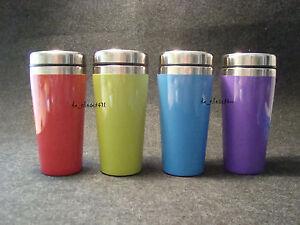IKEA Coffee Mug Tea Hallbart Hot Cold Travel Tumbler 12oz Green Red Blue Purple