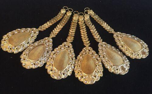 1 pair of Latest Bollywood Zircon Latkan Sari Blouse Accessory Duppata Sewing