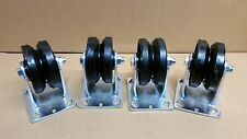 "4"" X 2 "" V-GROOVED STEEL WHEEL CASTER/ SET OF 4  (900 LBS CAPACITY/EA)"