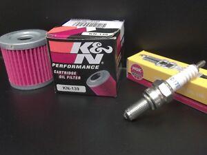 Air Oil Filter For Suzuki LT-Z400 Z 400 QuadSport KFX400 2003-2009 Spark Plug