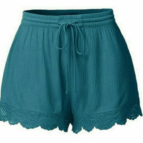 Plus Size Summer Women Casual Beach Shorts Ladies Sports Shorts Cotton Hot Pants