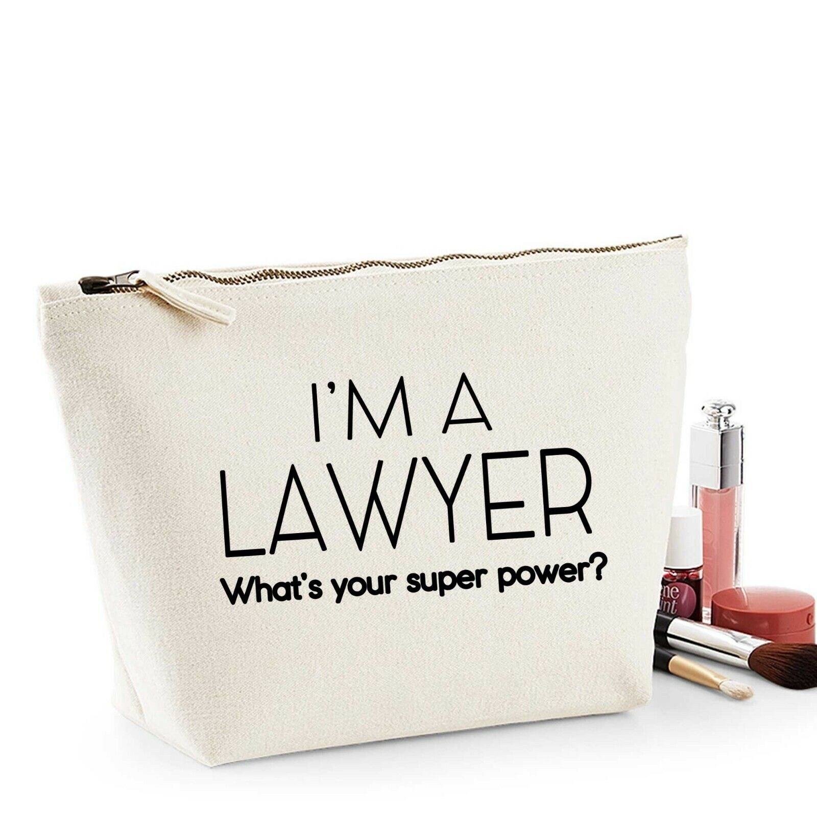 Lawyer Thank You Gift Women's Make Up Makeup Accessory Bag