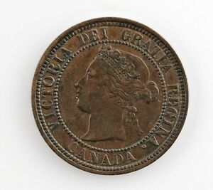 1881-H-Canada-1-Cent-Coin-XF-Extra-Fine-Condition