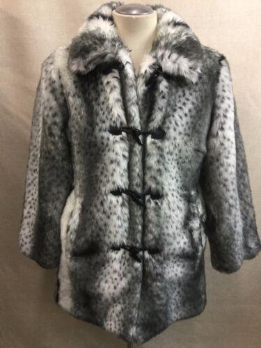 Mccoy fausse Snow réversible reversible Veste Pamela fourrure manteau en Leopard w0SaAI