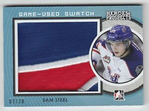 2014-15-ITG-HP-PROSPECTS-SAM-STEEL-PATCH-GAME-USED-SWATCH-20-Heroes-Ducks-Pats
