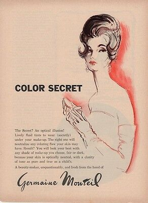 "1962 Germaine Monteil ""Color Secret"" ART PRINT AD"