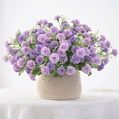 Party Hydrangea Small Lilac Flowers Bundle Wreath Garden Artificial Flowers LP