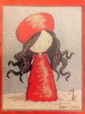 Santoro Gorjuss Girl Winter Snow Christmas Cross Stitch Chart X