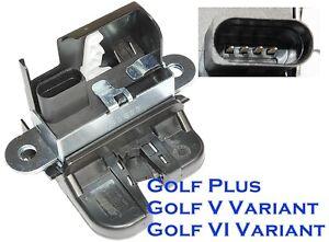 heckklappenschloss kofferraum vw golf plus golf v variant. Black Bedroom Furniture Sets. Home Design Ideas
