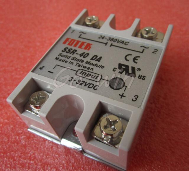 24V-380V 40A 250V SSR-40 DA Solid State Relay Module 3-32V DC To AC NEW