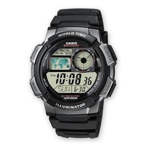 Digital Gris Alarma De 1bvef Reloj Casio 100mt Ae Silicona Negro Detalles Chrono 1000w NOk8nX0wPZ