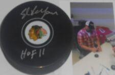 Eddie Ed Belfour Chicago Blackhawks Autographed Signed Puck HOF 11 A11