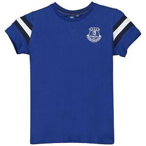 Эвертон ядро базовых футболка, футболка, топ в полоску королевский футбол Junior для мальчиков