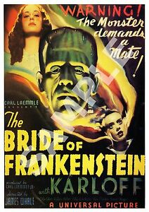 The-Bride-of-Frankenstein-Vintage-Horror-movie-poster-reproduction