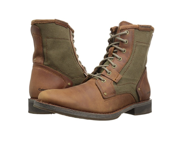 CATERPILLAR P720980 ABE CANVAS Mn's (M) braun Olive Leather Textile Lace-Up Stiefel