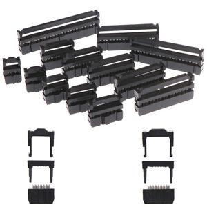 10Pcs-6-8-10-12-14-50Pin-IDC-Socket-Plug-Ribbon-Cable-Connector-2-54mm-PitchS-xf