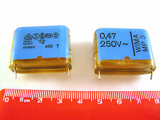 Wima MP3 0.47uf 250v X2 Series GPF Metallised Paper Capacitor 2 pieces OL0419