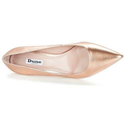 Utile Dune Métallique Abbigail Femmes Cour Chaussures En Or Rose Taille 5/38 Rrp £ 69.99 Facile à Utiliser