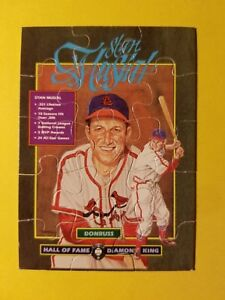 Details About 1988 Donruss Baseball Puzzle Cards Complete Set Hof Stan Musial