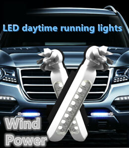 2Pcs-Wind-Power-voiture-Daytime-Running-Light-8LED-DRL-Daylight-Wireless-Phares