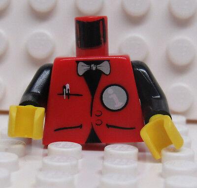 NEW Lego Juggler MINIFIG BLUE TORSO w//White Stripe Boy Shirt Red Bow Tie 10244