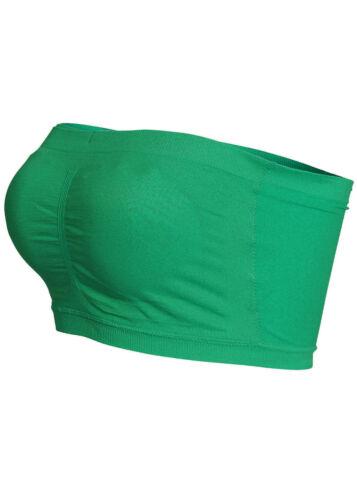 20/% OFF B14110570 Damen Madonna Bandeau Top mit Brustpads bauchfrei grün