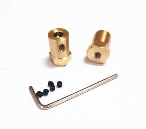 Brass Hex coupling Coupler Wheel connector 3mm//4mm//5mm//6mm//7mm//8mm