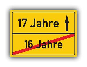 Ortsschild-Deko-Bild-Geschenkidee-zum-17-Geburtstag-Glueckwunsch-Geschenk-Karte