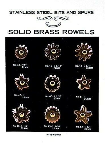 Weaver 9 Pair Spurs Replacement Rowel Card Assorted (7 8  - 1-1 4 )