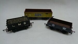 OO-Gauge-Mineral-Wagon-Dapol-GW-Bachmann-ARC-tiger-LMS-with-coal-set-of-3