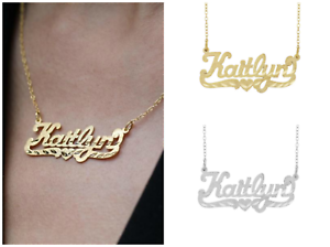 Personalized-925-Sterling-SilverGold-Script-NAME-Plate-Necklace-Diamond-Cut-2020