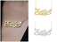 Personalized-925-Sterling-SilverGold-Script-NAME-Plate-Necklace-Diamond-Cut-2020 thumbnail 1