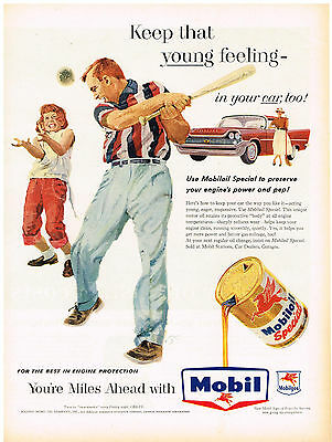 Merchandise & Memorabilia Vintage 1940 Magazine Ad Mobiloil Special Use For The Best Engine Protection