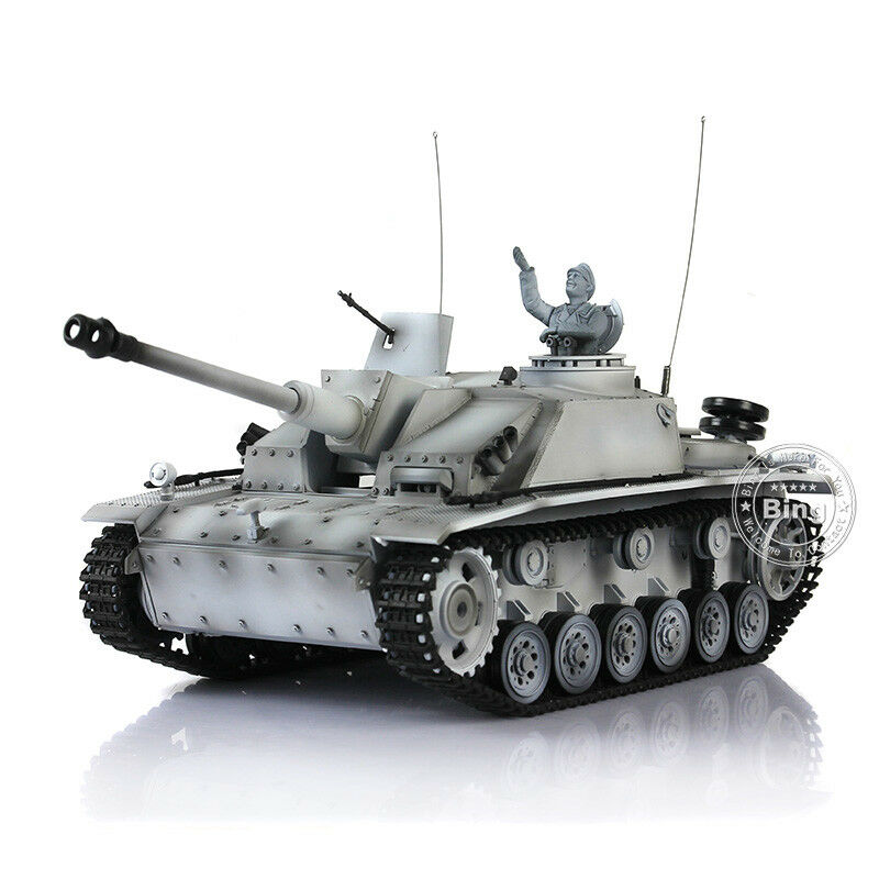 HengLong 1 16 Winter Snow German Stug III RTR RC Tank Plastic Model 3868W