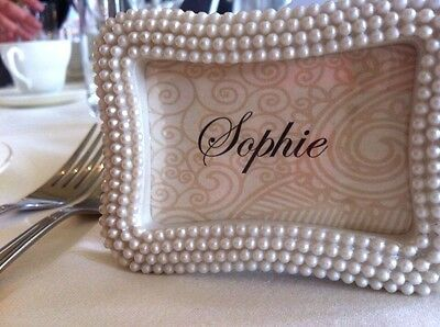 Pretty Pearl Place Card / Photo Frame Wedding Favour