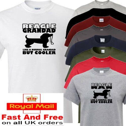Beagle Grandad ou Nan Nouveauté T Shirt Toutes les Chien Races disponibles