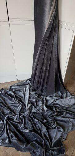 VELVET dress  FABRIC 58 INCES WIDE 3m   DARK GREY  STRECH VELOUR