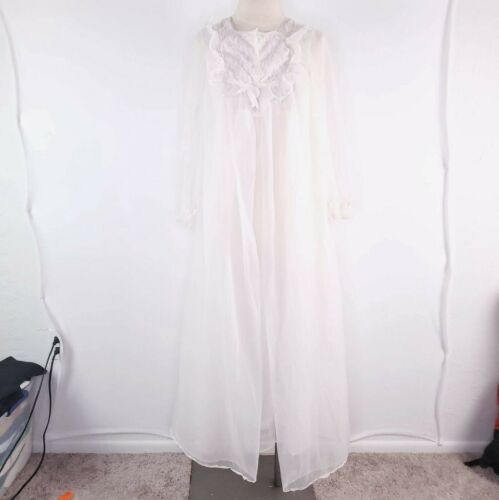 Vintage Dynasty 2 Pc Bride Night Gown Slip Dress L