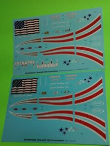 Lot-of-2-Pete-359-1-25-Waterslide-Decal-Sheet-US-American-Flag-stars-and-stripes