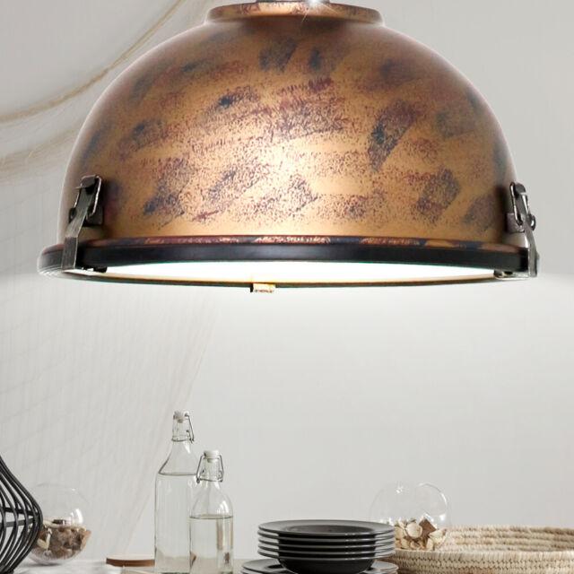 Retro Stil Decken Pendel Leuchte Wohn Zimmer Beleuchtung ALU Hänge Lampe kupfer