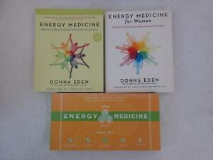 Lot of 3 Donna Eden ENERGY MEDICINE For Women & Energy Medicine Kit w/ DVD