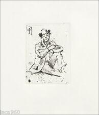 Paul CEZANNE Portrait of Armand Guillaumin Restrike Etching & COA