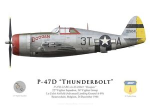 No 146 Squadron RAF by G. Marie 1944 Print P-47 Thunderbolt India