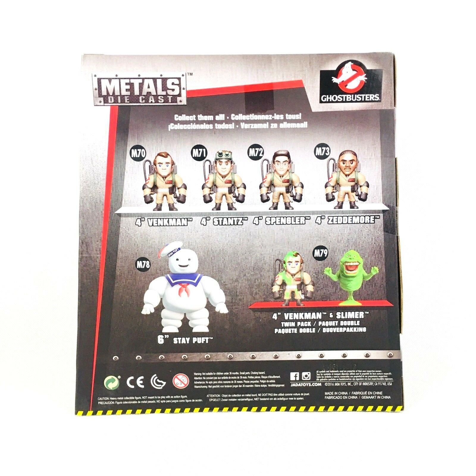Metals Ghostbusters 6 inch Classic Figure - Stay Puft Puft Puft Marshmallow Man (M78) 1ec289