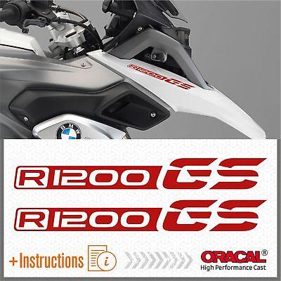 2x R1200GS ADVENTURE White//Red BMW ADESIVI R1200 GS PEGATINA AUTOCOLLANT R 1200
